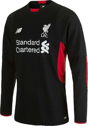 The new black Liverpool FC 2015-16 Goalkeeper Shirt features a unique  design with a special graphic pattern on the sleeves. 44726baf1