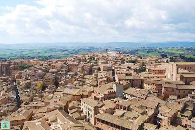 Vistas desde la Torre del Mangia en Siena