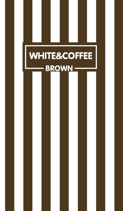 Coffee Brown & White Theme