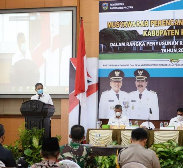 Musrenbang Kabupaten Pacitan 2021 fokuskan Pertumbuhan Ekonomi melalui Pariwisata dan Sektor Unggulan