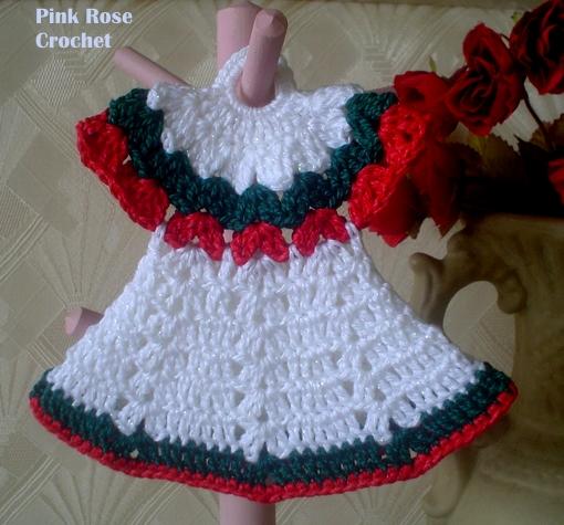 676739cda Pink Rose Crochet: Pega Panelas Vestidinhos de Natal