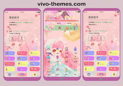 Colorful Website Templates Theme For Vivo Android Smartphone