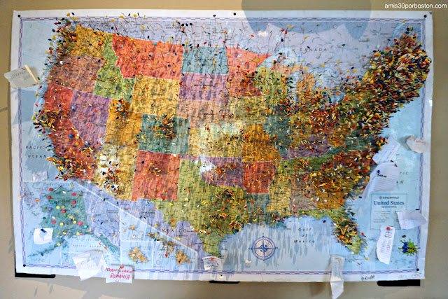 Mapa en la Taberna Tuckaway Tavern en New Hampshire