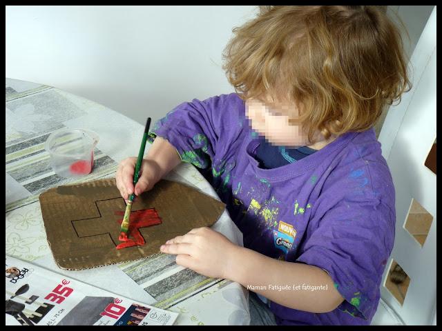 bouclier peinture enfant
