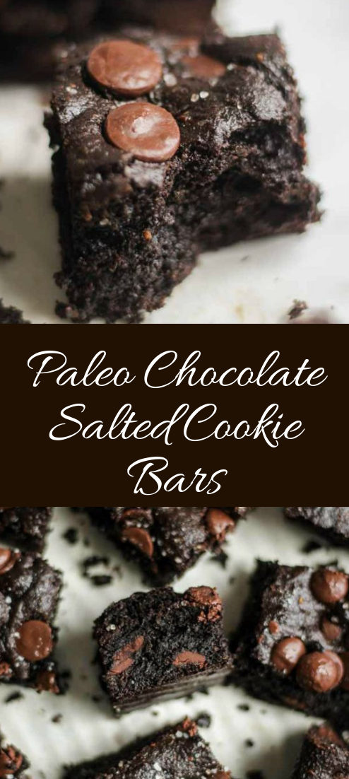 Paleo Chocolate Salted Cookie Bars