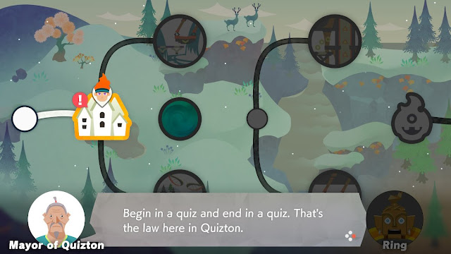 Ring Fit Adventure World 15 Mayor Quizton begin end quiz law
