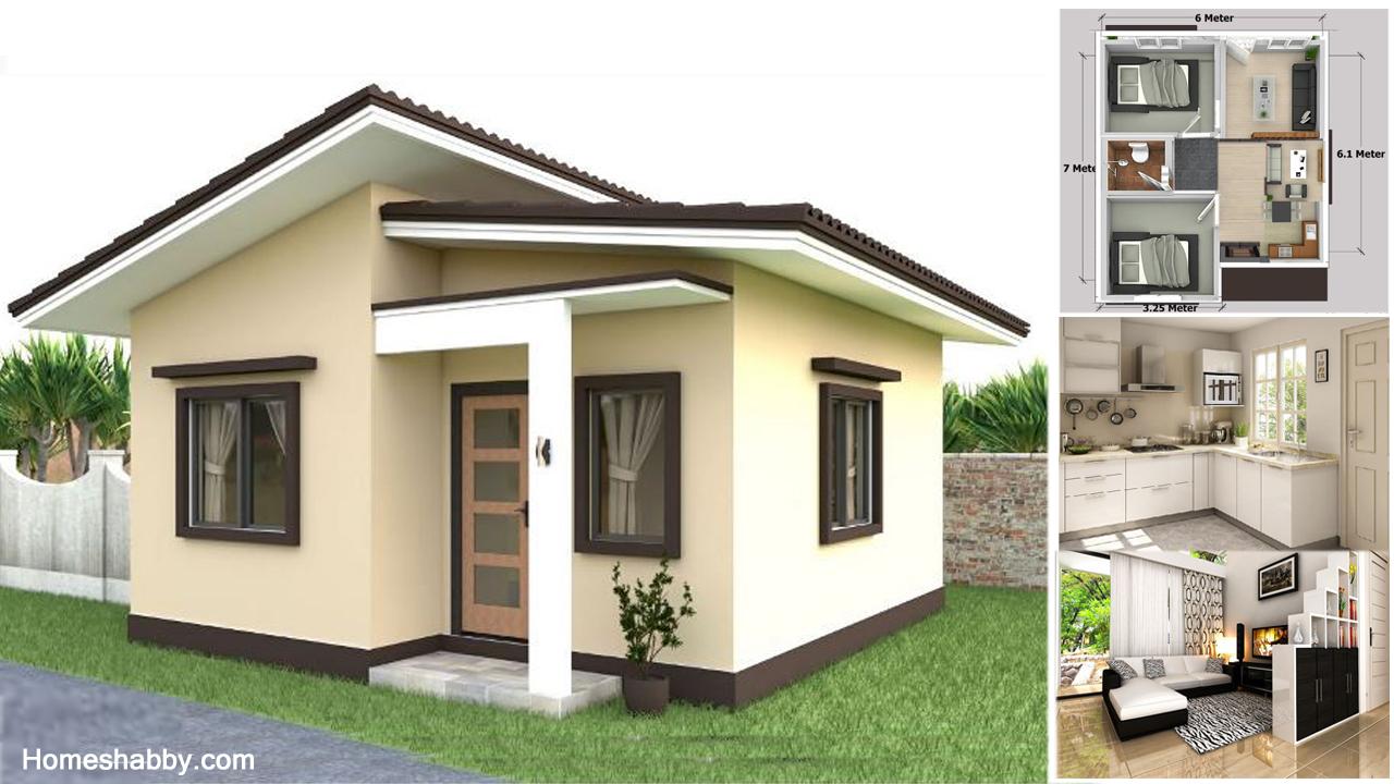 Desain Dan Denah Rumah Mungil Ukuran 6 X 7 M Atap Miring Dan Tampil Lebih Modern Homeshabby Com Design Home Plans Home Decorating And Interior Design