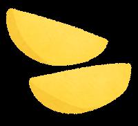じゃがいもの切り方のイラスト(黄色・串切り)