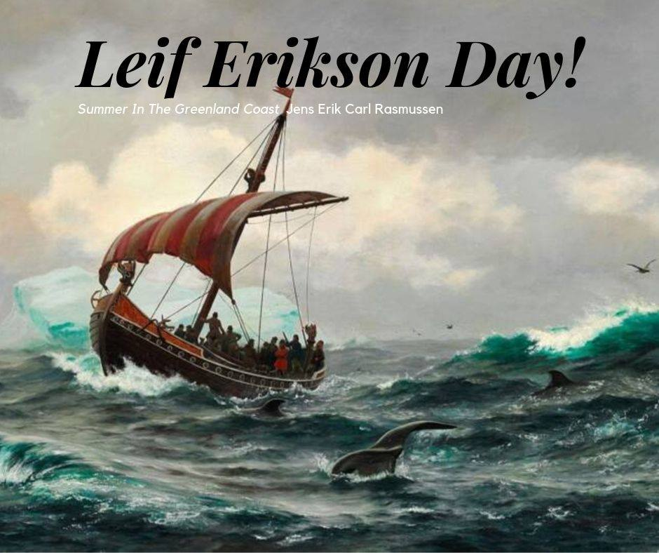 Leif Erikson Day Wishes Beautiful Image