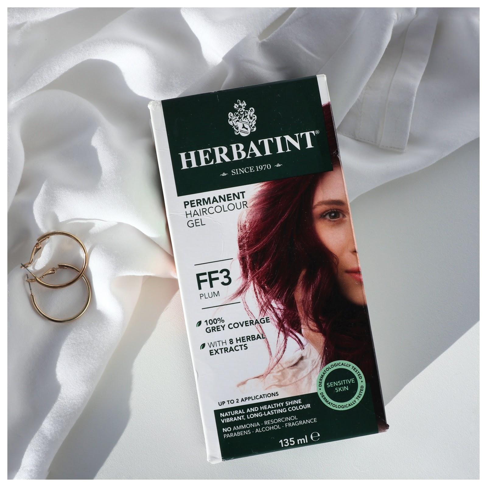 Wegańskie farbowanie –  Farba do włosów Herbatint FF3 Śliwka