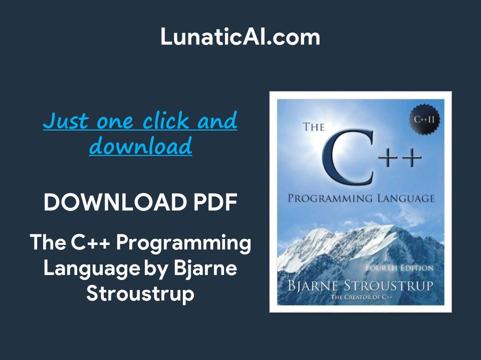 the c++ programming language pdf github