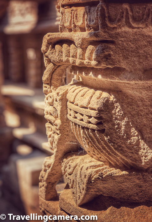 The closer you look into the carving and correlate it with when these carvings were made, it makes you appreciate this beauty even better. If you are able to imagine, now try to think about the size of the space and the amount of carvings it has. It's truly mind blowing and amazing to think how much efforts were put in build a water tank.