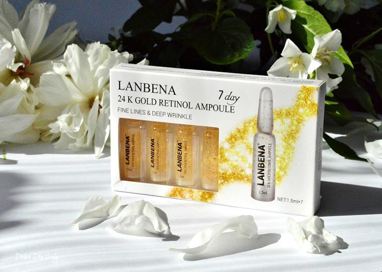 LANBENA 24K Gold Retinol Ampoule - Przeciwzmarszczkowe serum liftingująco-nawilżające recenzja
