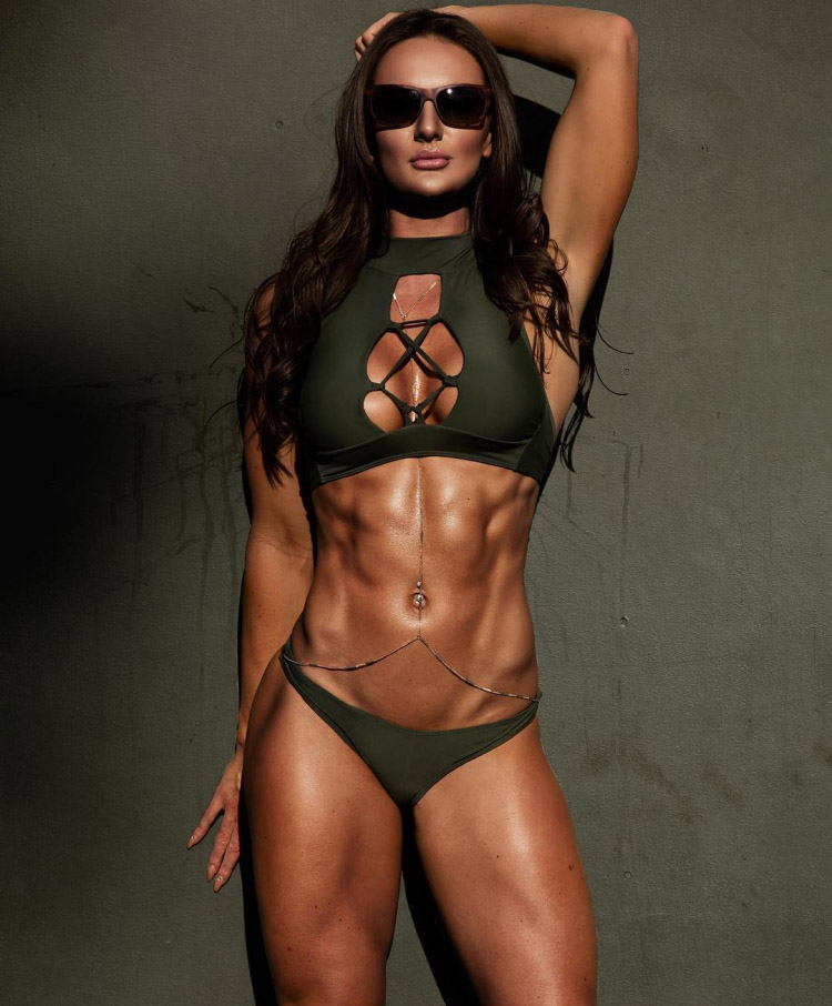 Female Fitness Model ABS