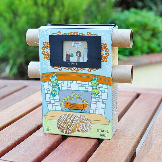 Membuat DIY CardBoard TV Paddle Pop