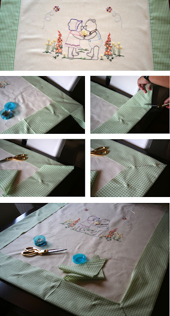 sap işiyle brezilya nakışı battaniye