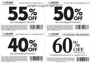free AC Moore coupons april 2017