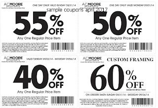 free ac moore coupons april 2017
