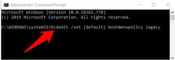 Ketikkan perintah di Command Prompt dan tekan Enter