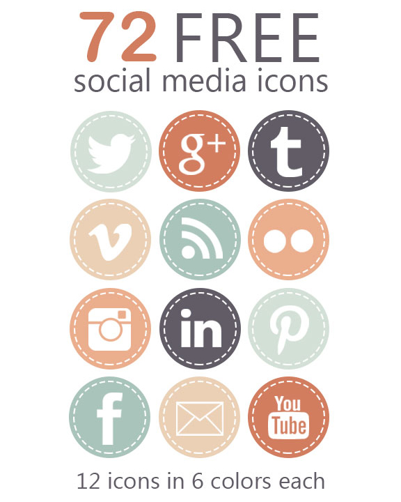 Free Social Media Icons, Lovelytocu.ca