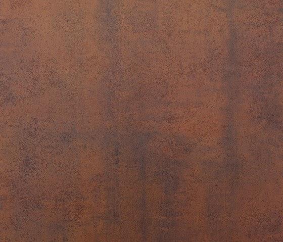 chapa tratada con productos imitando el acero coten