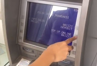 Cara Top Up BRIZZI BRI Melalu ATM BRI & Link