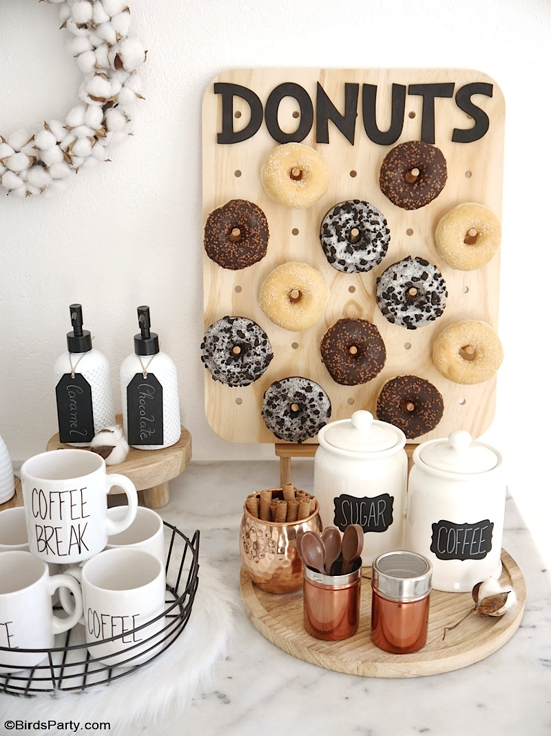How to Style a Coffee and Donuts Bar for a Party