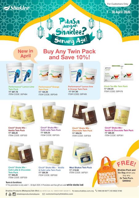 Promosi Shaklee April 2020 (Promosi Ramadan Shaklee)