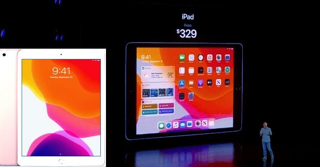 طلقت شركة آبل جهاز iPad النسخة الجديدة والذي أطلقت عليه  الجيل السابع تحت اسم Apple iPad 10.2 فهو يأتي بمواصفات عالية عكس النسخة العام الفائت الذي أطلقته الشركة في مارس عام 2018 بسعر 329 دولار أمريكي بشاشة 9.7 بوصة  والذي شكّل نجاحاً كبيراً وحقّق نسب مبيعات عالية.    مواصفات الجهاز    يتكون جهاز iPad الجديد على شاشة Retina بحجم 10.2 بوصة وهو مدعوم بشريحة A10 Fusion  التي رأيناها في جهاز iPad العام الفائت ويأتي بمعالج A10 Fusion 16nm وبمعالج رسوميات PowerVR Series7XT Plus (six-core graphics)     بوزن 493g ويأتي بنسختين :  2 جيجا رام 32 جيجا ذاكرة عشوائية.  2 جيجا رام 128 جيجا ذاكرة عشوائية.  ويتكون الهيكل الخارجي من مادّة الألمنيوم المعادة التدوير بنسبة 100% ويعمل بنظام التشغيل iPadOS الخاص بالحواسيب اللوحية التابعة لشركة آبل، التي تحوي العديد من التحسينات من حيث واجهة الاستخدام.