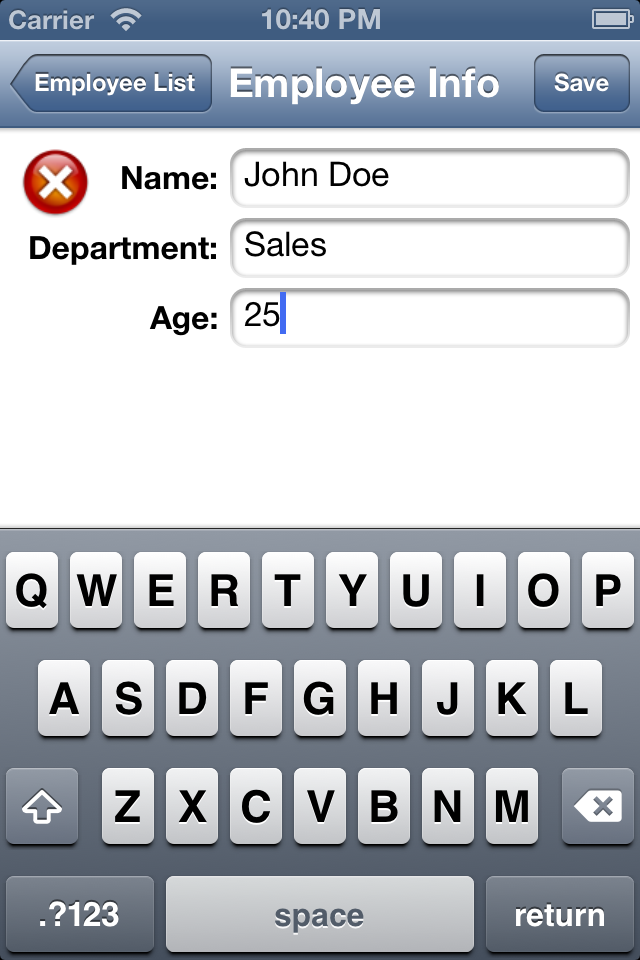 Programmers Sample Guide: iOS SQLite example with Create