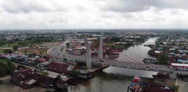 Presiden RI Resmikan Jembatan Sei Alalak Tidak 'Jembatan Basit'