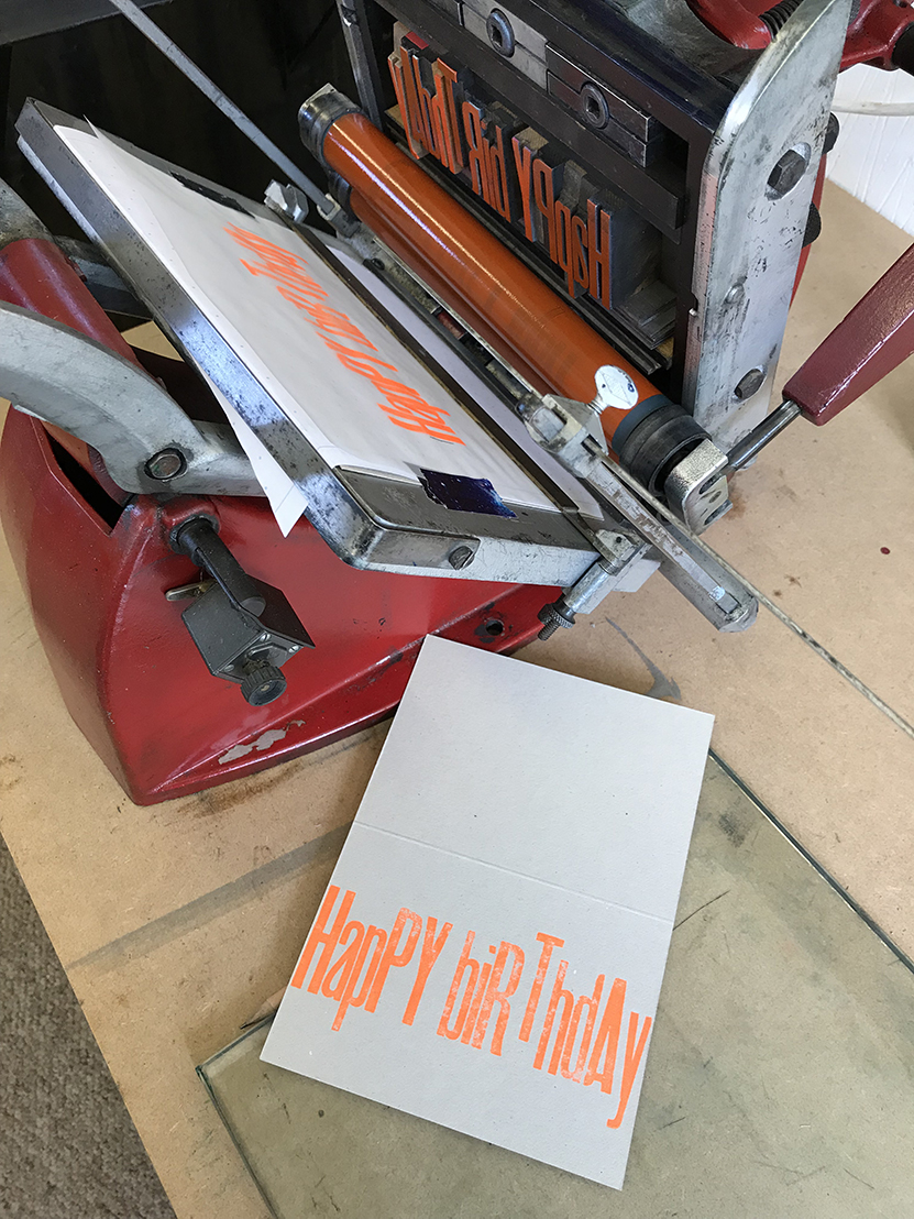 Live it: Letterpress printing with Inky and the Beast