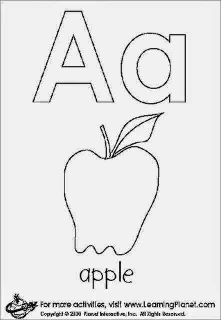 COLORING PAGES LETTER A  Coloring Pages Printable