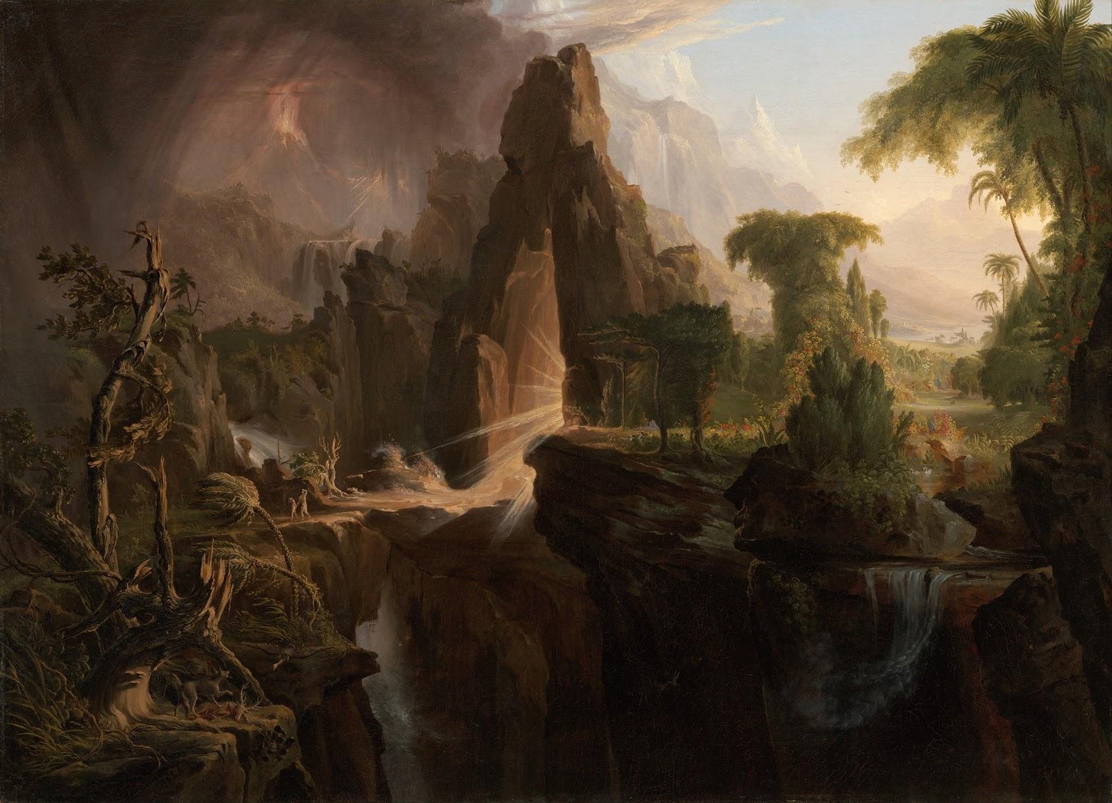 Thomas Cole Expulsion from the Garden of Eden  Museum of Fine Arts  oston