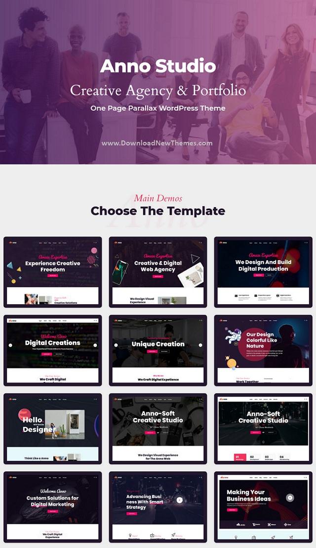 Anno One Page Portfolio WordPress Theme