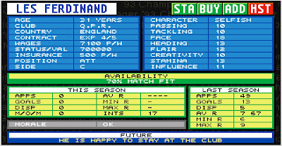 retro football manager Championship Manager