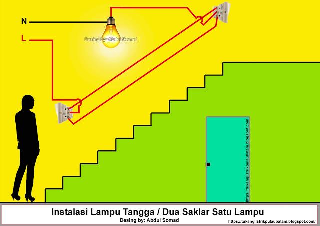 Cara Memasang Saklar Dua Arah (Two way switch)