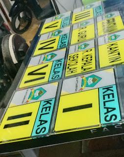 Sign Board Sekolah Akrilik - Percetakan Tanjungbalai