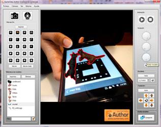 Captura de pantalla Aumentaty sobre un móvil con gatos en 3D