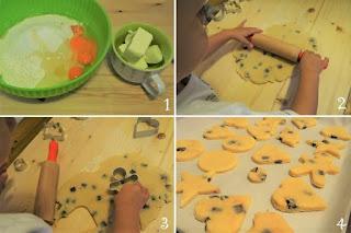 foto preparazione ricetta biscotti di pastafrolla da fare con i bambini