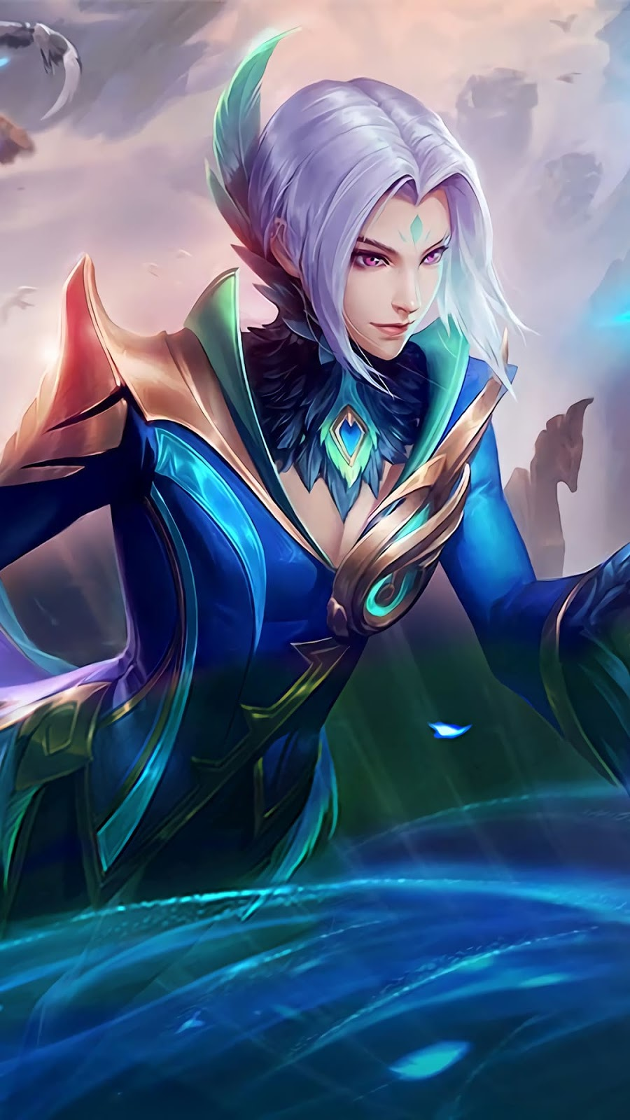 Wallpaper Ling Cyan Finch Skin Mobile Legends HD for Android and iOS