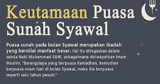 Keutamaan Puasa Sunah 6 Hari di Bulan Syawal