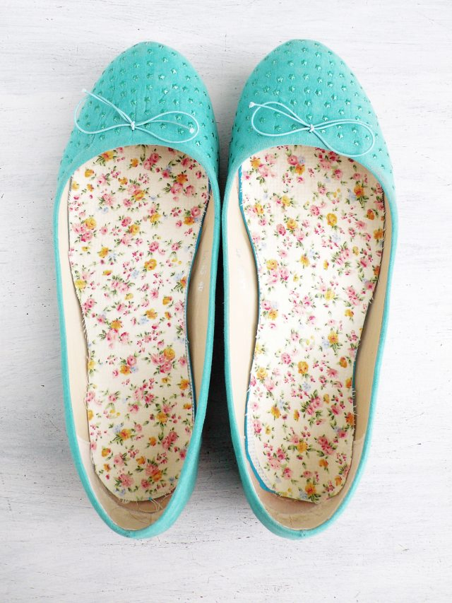 Re-fashion: nuove solette fai-da-te per vecchie scarpe