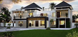 Desain Rumah Minimalis Mewah 2 Lantai Paling Kekinian