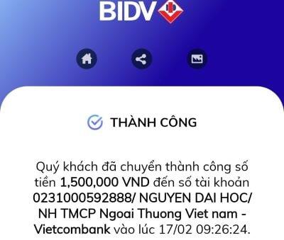Trùn quế Phú Thiện thanh toán