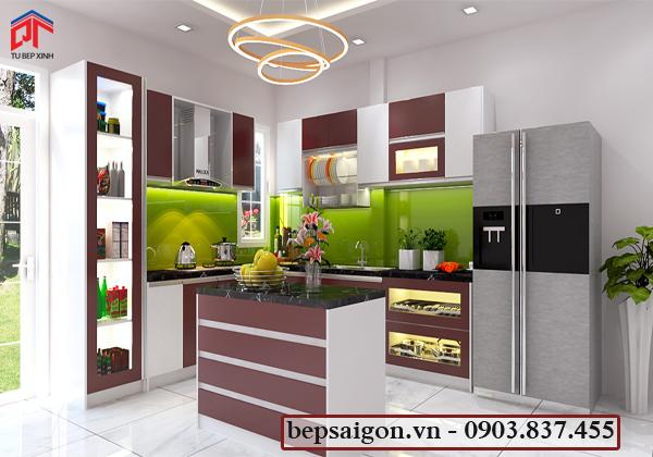 tủ bếp hiện đại, tủ bếp, tủ bếp acrylic