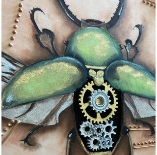 Scarabée Steampunk - Graziella Augier de Design Sucré
