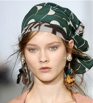 kitsch by kat: hair challenge day 10: how the wear a scarf ...