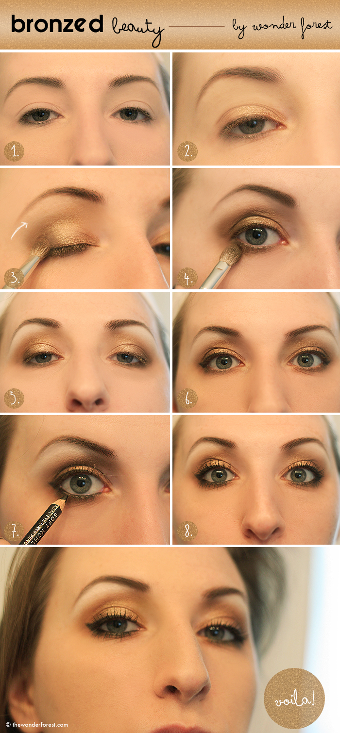 Smokey Eyeshadow Tutorial: Bronzed Beauty: Golden Smokey Eye Tutorial