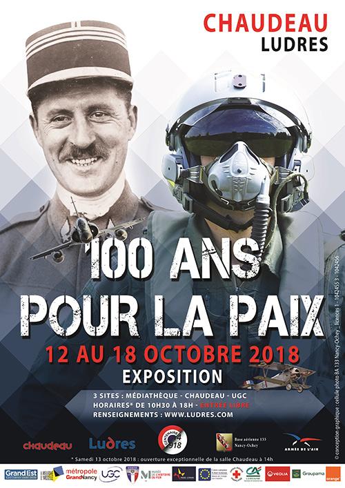 """LUDRES (54) - """"1918-2018 100 ANS POUR LA PAIX"""" (12 au 18 oct 2018)"""